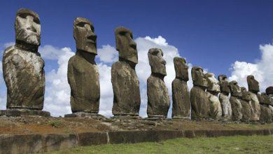مجسمه های موآی در جزیره ایستر