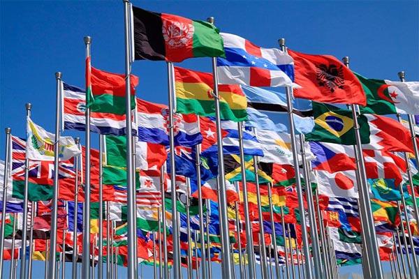 بنفش در پرچم کشورها