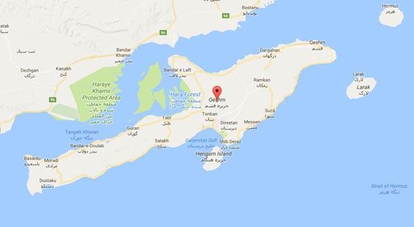نقشه جزیره قشم
