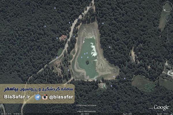 نقشه هوایی دریاچه عباس آباد